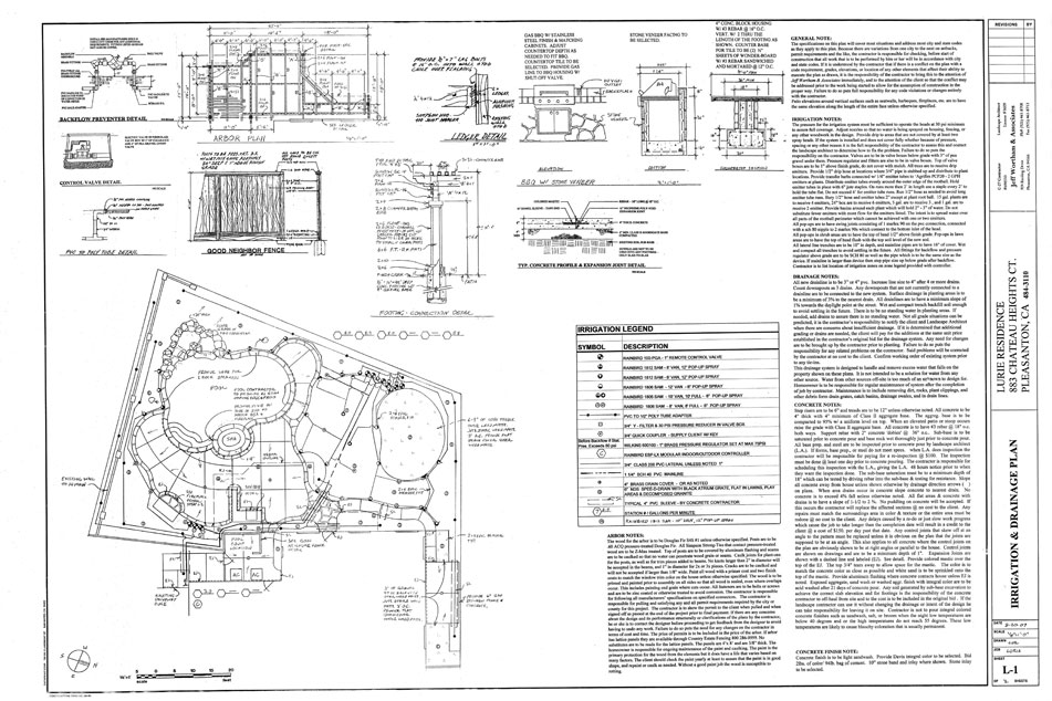 The landscape design for Sample landscape plan