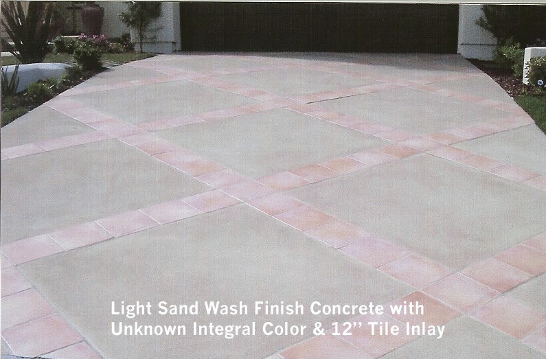 Integral Color Concrete Walls : Materials paving