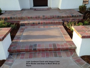 Light-Sandwash-Finish-with-Integral-Color-Brick-Border-and-Steps-to-Match-Brick-on-House