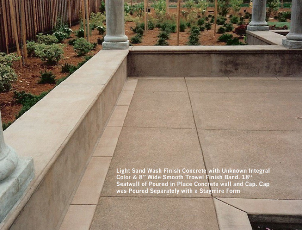 Light Sand Wash Finish Concrete With Unknown Integral Color ...