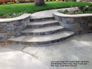 Loon-Lake-Ledge-Thin-Venner-Walls-and-Risers-with-Bluestone-Patio-Inlay-Step-Treads-and-Wall-Caps-Sand-Wash-Concrete
